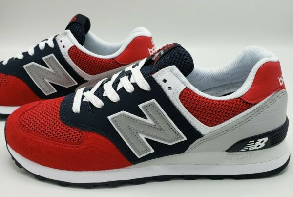 New Balance ML574SRF Team Red Navy Blue Casual Sneaker Shoes Men's Size 9