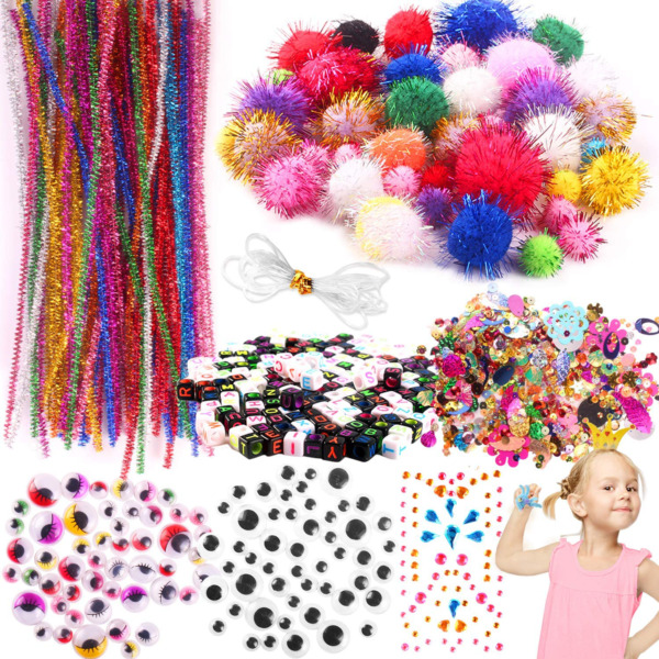 Arts And Crafts Supplies For Kids Girls Toddler Crafts Sensory Items Pipe Cleane