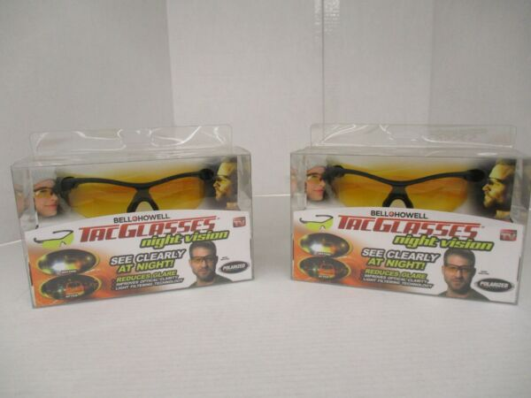 2 AS SEEN ON TV BELL + HOWELL TAC GLASSES POLARIZED NIGHT VISION AP 4184