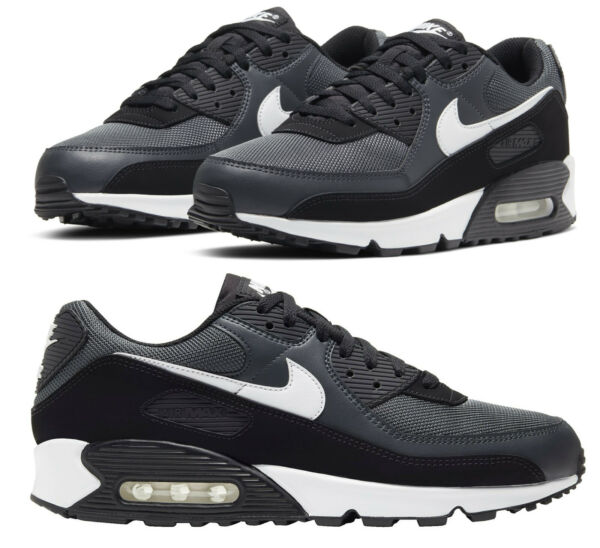 Nike Air Max 90 Casual Running Shoes Gray White Black CN8490-002 Men's NEW