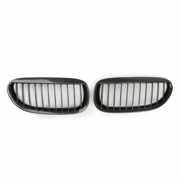 Front Kidney Grille Carbon For BMW E63 E64 M6 04 10 2 Door Convertible Coupe $83.99
