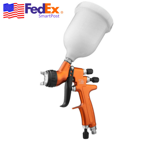 TES HVLP Air Spray Gun 1.3mm Nozzle + Cup Car Shop Paint Spray Tool Gravity Feed