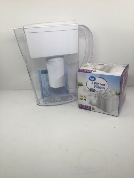 Brita 5 Cup Water Filter Pitcher With 4 Filters