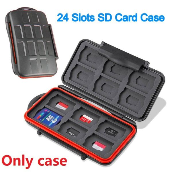 Waterproof Card Holder Memory Card Storage Case For 12 SD+12 Micro SD TF Cards