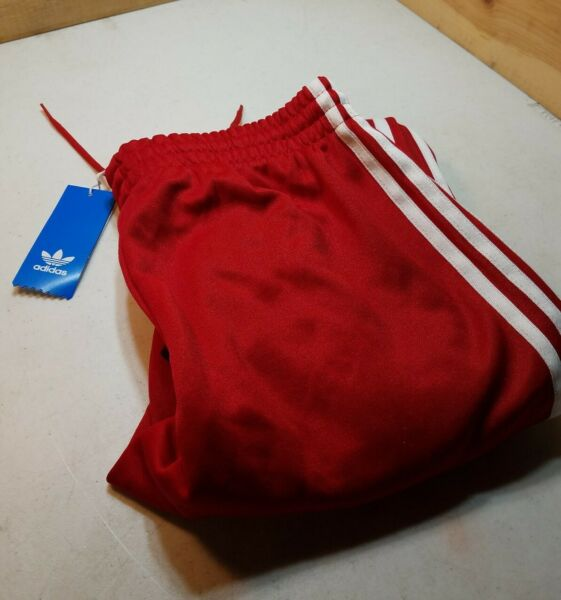 Mens SzS Power Red Adidas Superstar Track Pants