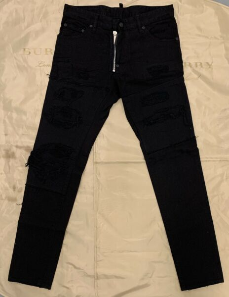 DSQUARED2 Dsquared Cool Guy Jeans In Black Size 48 $1320 $400.00