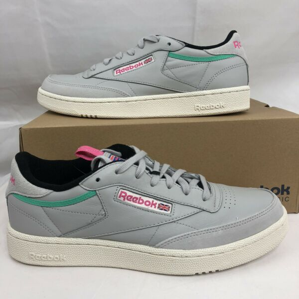 Reebok Classic Club C 85 RAD BS5151 Mens Gray Leather Sneakers Skate Shoes