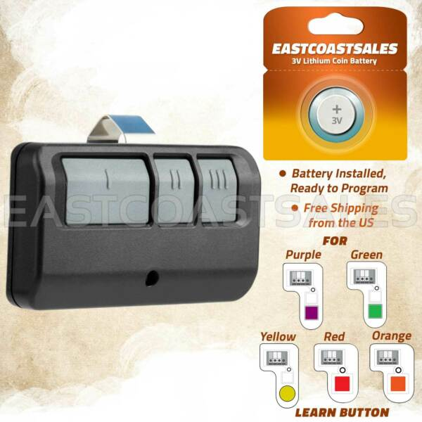 For Chamberlain LiftMaster Garage Door Opener Remote 893LM 953EV P2 Learn