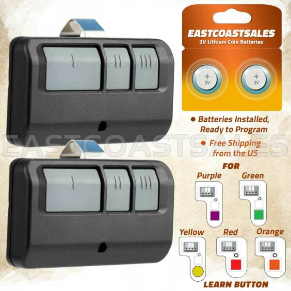 2 For Chamberlain LiftMaster Garage Door Opener Remote 893LM 953EV P2 Learn