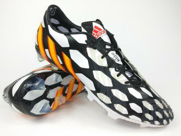 Adidas Mens Rare Predator lz FG world cup M19888 White Black Cleats Size 10