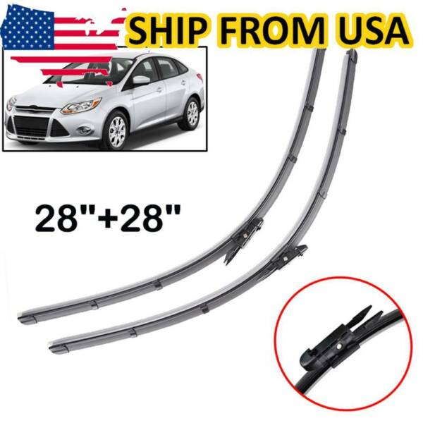 Front Windshield Wiper Blades Set For Ford Focus MK3 11 18 North American Model