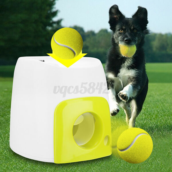 USA Automatic Pet Dog Launcher Tennis Ball Toy Interact Fetch Training  $40.99