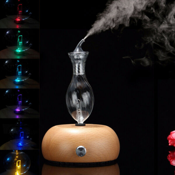 Nebulizing Pure Essential Oils Wood amp; Glass Diffuser Fragrances Aromatherapy NEW $35.33