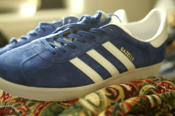 Adidas Originals Gazelle  Blue White Mens Sneakers..MUST HAVE...US13
