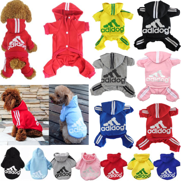 Adidog Pet Dog Clothes Cat Puppy Hodies Coat Winter Sweatshirt Warm Sweater $8.99