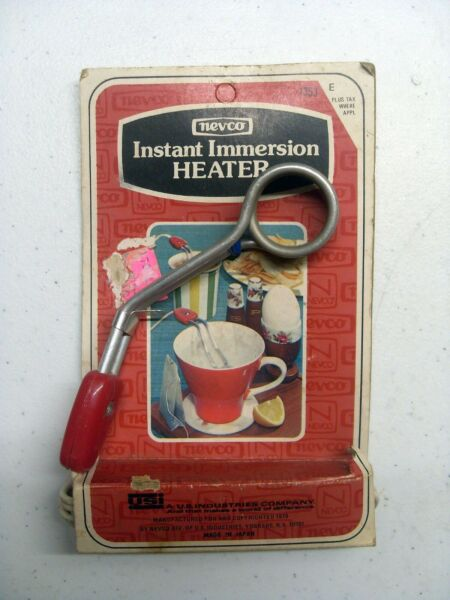 Vintage Nevco Instant Immersion Heater w Fuse #1353 Made in Japan 1976 NEW $8.50