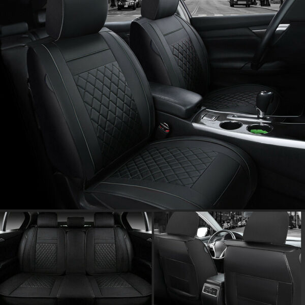 Moon 5 Seat Car SUV PU Leather Seat Cover FrontRear For Honda Accord Civic XR V $68.95