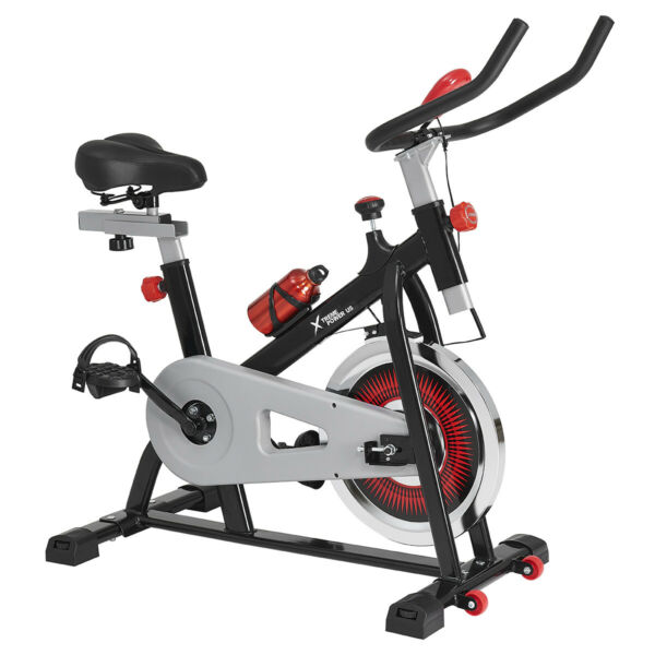 Stationary Bike Cardio Workout Bicycle Cycling Fitness Exercise w Water Bottle $184.99