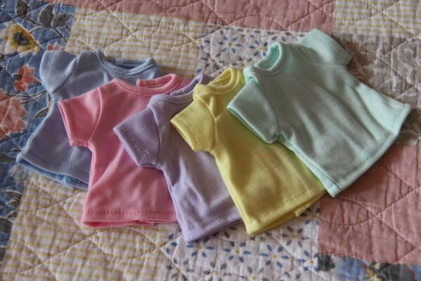 Lot of 5~T-SHIRTS~RAINBOW~ for Paola Reina dolls~13.5