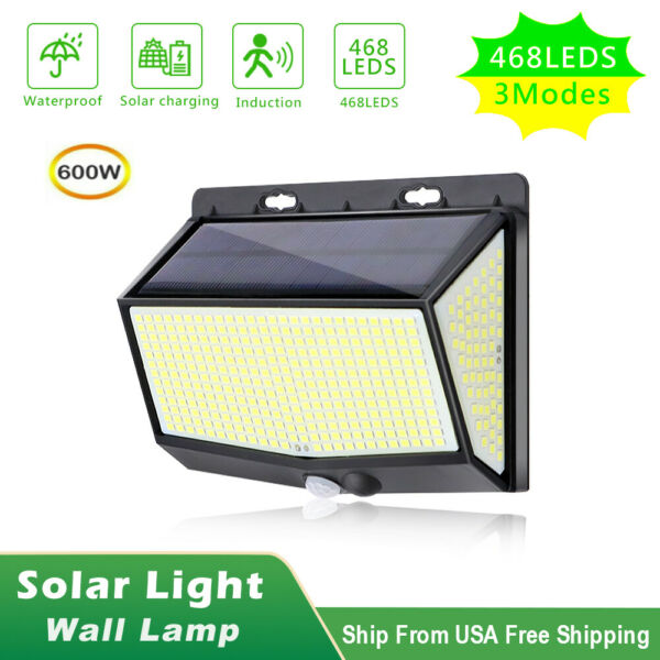 208 LED Solar Power Light PIR Motion Sensor Outdoor Lamp Wall Waterproof Garden $11.97