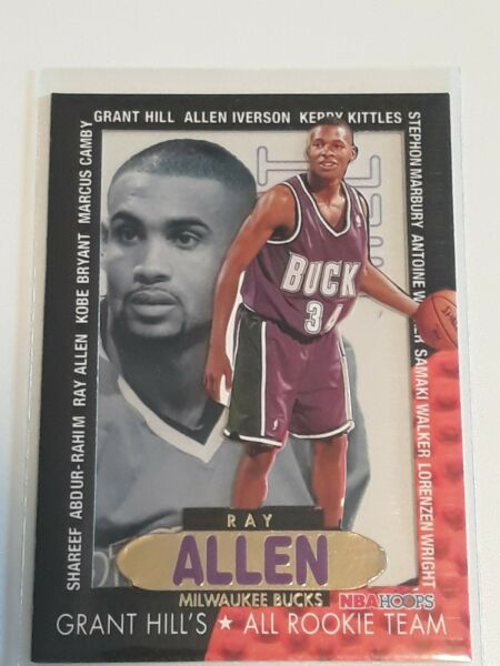 1996 97 NBA HOOPS GRANT HILL#x27;S ALL ROOKIE TEAM RAY ALLEN #2 RC ROOKIE $39.99