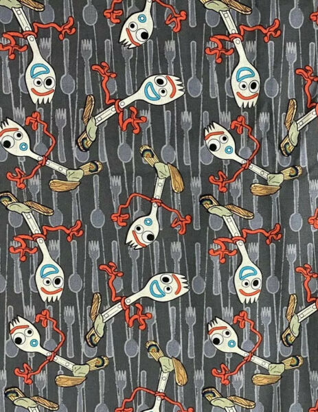 Disney Toy Story Forky Cotton Fabric FAT QUARTER 18quot;x21quot; Hard to find $8.95