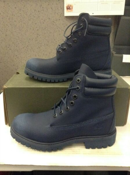 NEW Timberland 6quot; Inch Men Size: 7 Boots Navy Blue TB0A1OZY $105.96