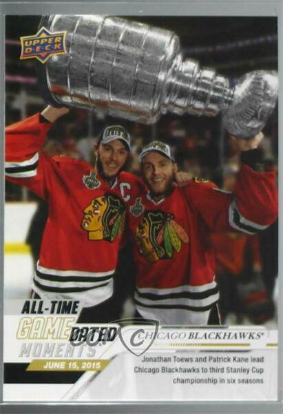 2019 Upper Deck Game Dated Moments June All-Time Jonathan Toews Patrick Kane #86