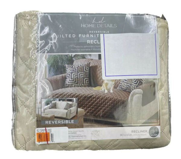 Home Details Quilted Reversible Furniture Protector Slipcover Recliner $19.99