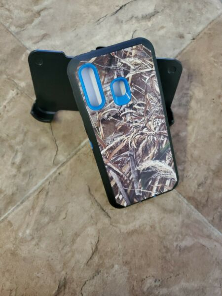 For Samsung Galaxy A50 Case camo Cover Belt Clip Fits Otterbox Defender Series $11.99