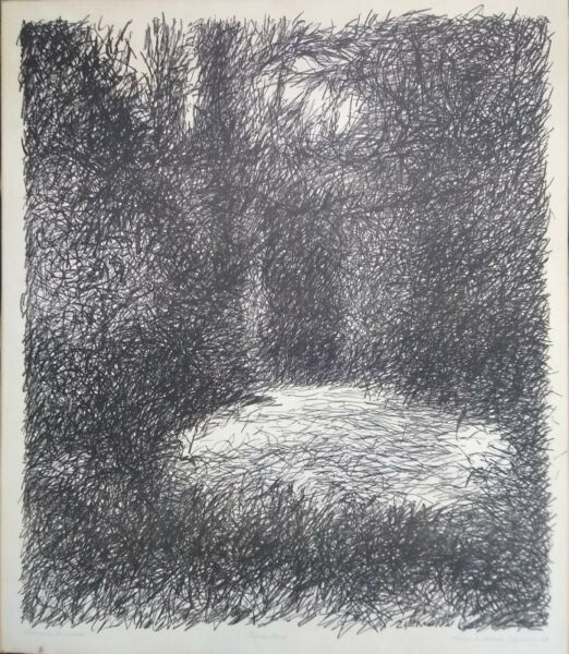 quot;Clearing in the Woodquot; artist proof etching by Richard Claude Ziemann