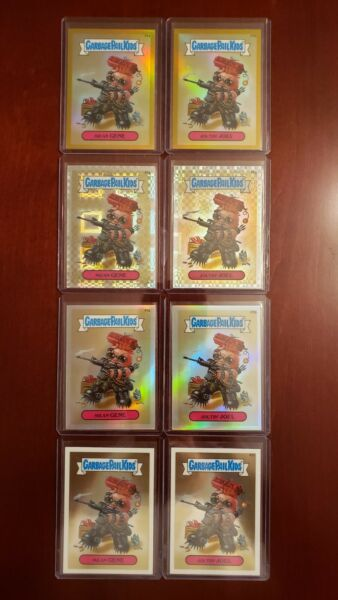 2013 Garbage Pail Kids Chrome (8) Card Lot Gold Xfractor Refractor