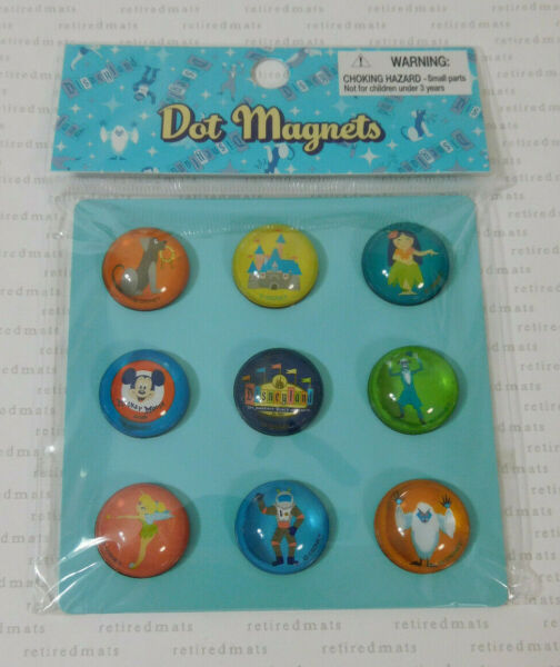 2005 Disneyland 50th Anniversary RETRO MAGNET SET Disney Haunted Mansion Marquee $36.00