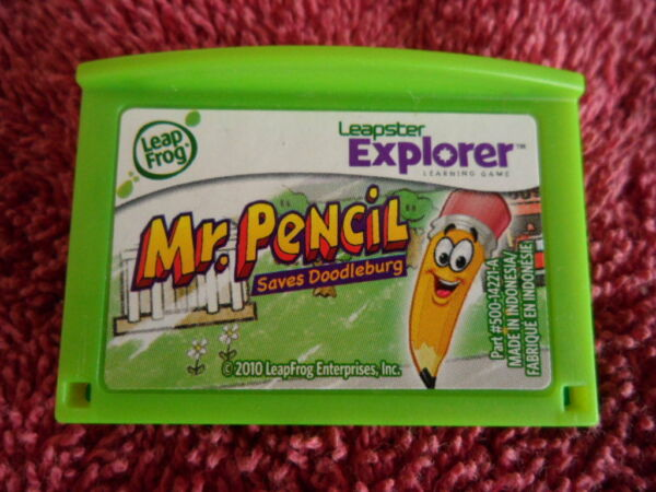 LEAP FROG LEAPSTER LEAPPAD EXPLORER GAME MR PENCIL SAVES DOODLEBURG AGES 4-7 $6.95