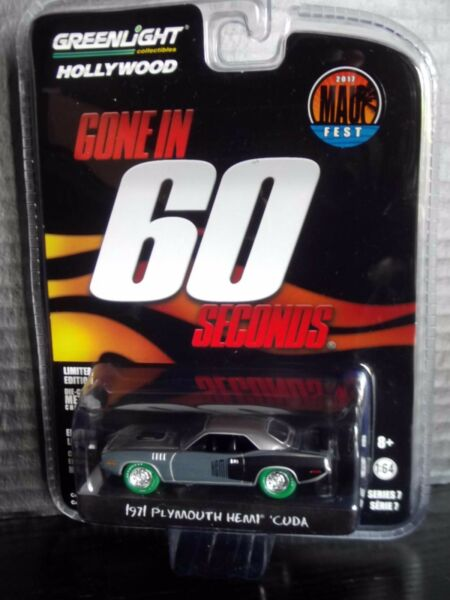 Greenlight 1971 Cuda Gone in 60 Seconds Raw Super Green Machine Chase 164 movie