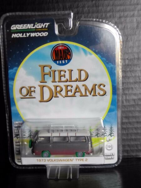 Greenlight Volkswagen Bus VW Field of Dreams Raw Green Machine 164 Diecast 148