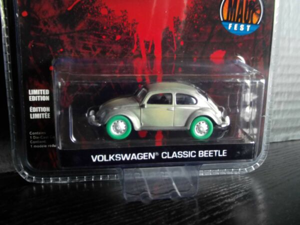 Greenlight Volkswagen Beetle VW Bug Friday the 13th Raw Green Machine Chase164