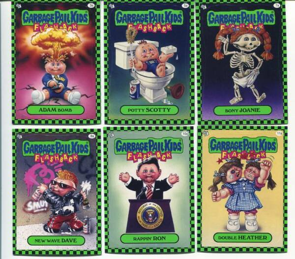 Garbage Pail Kids Series 1 Flashback Green Listing for icefire1989 43a