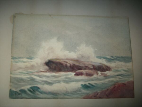 Original Seascape Watercolor By John Alfred Cook.....Listed Artist (1870-1936)