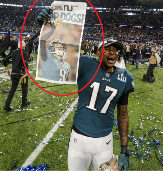 Top Dogs NJ.com On Field Newspaper Philadelphia Eagles Super Bowl LII Champions $4999.99