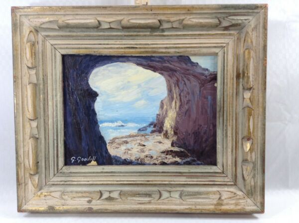 Oil on board by listed American Artist Grace Goodall Dana Point CA framed