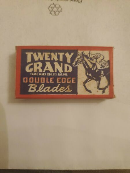 Vintage Twenty Grand Double Edge Razor Blades lot of 10 $25.00