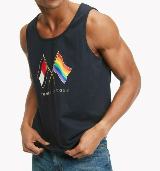 NWT Men#x27;s Tommy Hilfiger Sleeveless Pride Tank Top Tee T Shirt $12.00