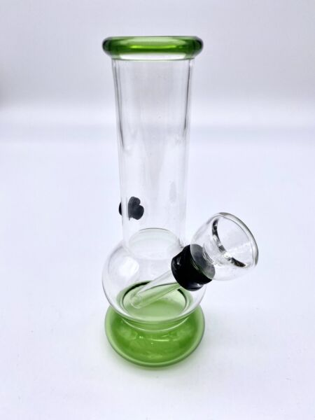 "5 1 2"" Inch Green Mini Bubbler Bong Hookah Small Water pipe REAL COLOR GLASS $8.99"