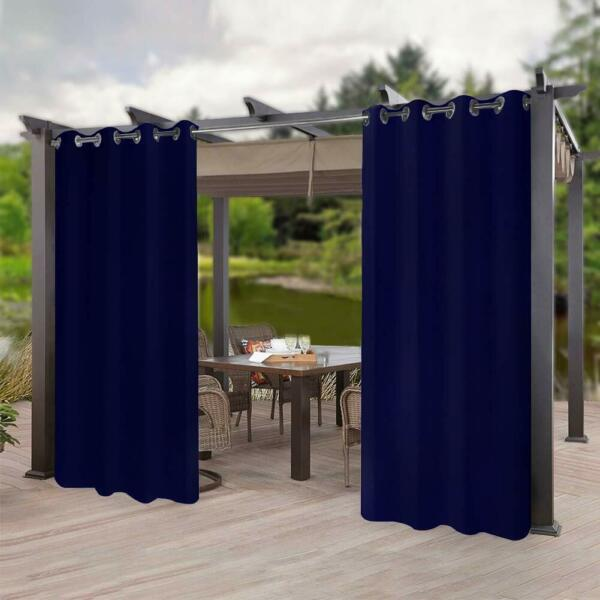 50quot; x 96quot; Outdoor Indoor Curtain Patio Waterproof Privacy Drape Blackout Fabric $25.75