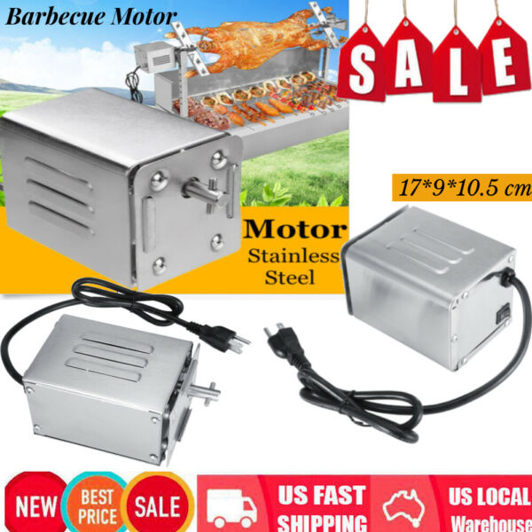 50 70KGF Stainless Steel BBQ Rotisserie Motor 110V Electric Barbecue Roaster