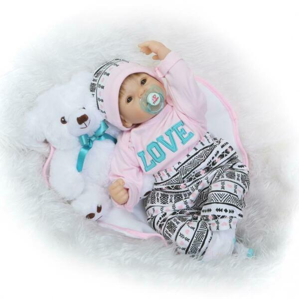 Reborn Baby Dolls Handmade Real Looking Newborn Baby Vinyl Cute Baby Doll 22inch