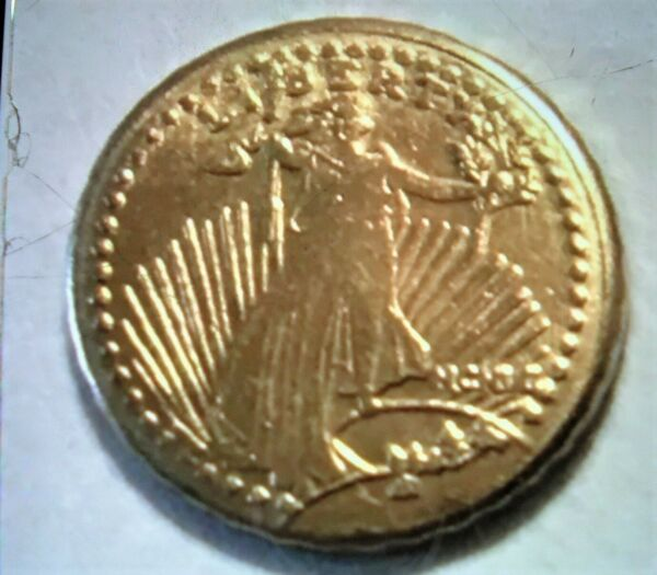 3 FOR 1 PRICE MINI ST GAUDENS GOLD COIN 10mm 1 2 GRAM FREE SHIPPING $9.99