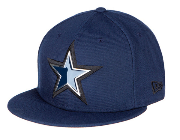 Dallas Cowboys METAL AND THREAD 59Fifty Fitted NFL Hat Navy