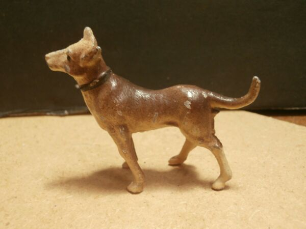 Vintage Miniature Standing Metal Dog Figurine France $11.99